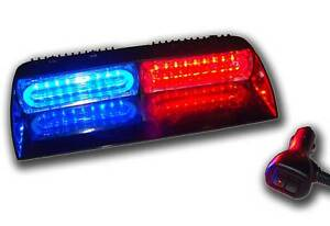 Red Blue Light Led Visor Strobe Dash Deck Super Bright Warning Hazard Towing