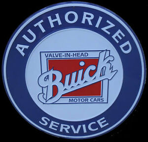 Buick Motor Cars Valve Head Service Gm Round Sign Garage Shop Poster Logo Tag Ss