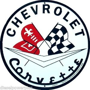 Corvette Chevrolet Chevy Parts Gm Round Sign Stingray Shop Poster Logo Tag Ss