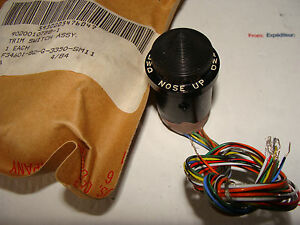 Military Surplus Aviation Push Switch 9020010788 1 Nose Up Nose Down New