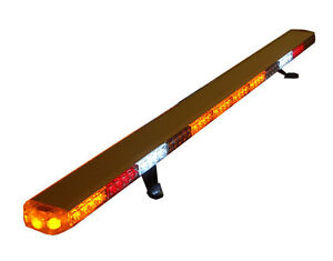 60 Led Amber Light Bar Roll Back Tow Truck Plow Ems Pilot Car Turn Signal