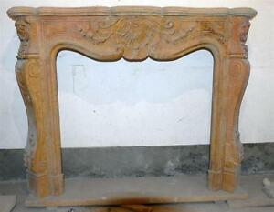 French Inspired Marble Fireplace Mantel