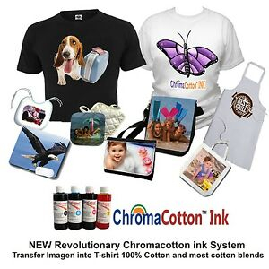 Epson Printer Bulk Cotton Ink Complete Start Pack Print T shirt Bags Ac Moore