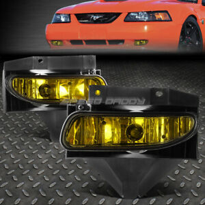 For 99 04 Ford Mustang Gt Amber Lens Bumper Driving Fog Light Replacement Lamps
