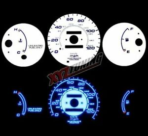 Blue Reverse El Indiglo Glow White Gauge Face For 96 00 Civic Cx Dx Mt No Rpm