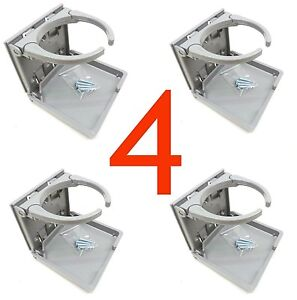4 X Gray Auto Car Suv Truck Van Boat Utv Folding Adjustable Cup Drink Holder 4