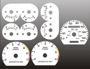 1990 1993 Ford Mustang 140 Mph Dash Cluster White Face Gauges 90 93