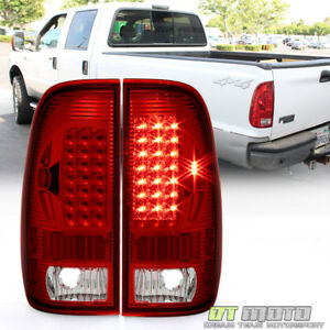 1999 2007 Ford F250 F350 F45 Sd 1997 2003 F150 Red Led Tail Lights Signal Lamps