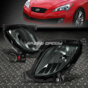 For 10 12 Genesis Coupe Smoked Lens Bumper Fog Light Replacement Lamps W Switch