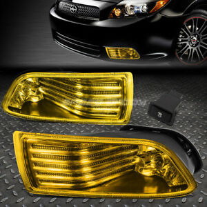 For 05 10 Scion Tc Jdm Amber Lens Black Driving Fog Light Oe Rh Lh Lamp Switch