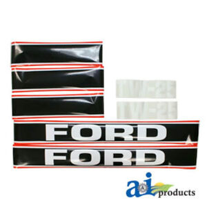 Hood Decals For A Ford Tw 25 Tractor