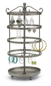 For Sale Counter Earring Rotating Carousel Display Rack 72 Pair raw Steel