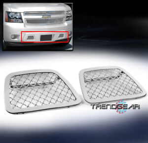 2007 2014 Chevy Avalanche Suburban Tahoe Bumper Tow Hook Stainless Mesh Grille