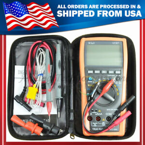 Vc87 True Rms Digital Multimeter Dmm Motor Drive W Backlight W Case Usa Seller