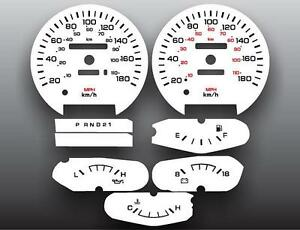 1990 1993 Dodge Ram Metric Kph Kmh Dash Instrument Cluster White Face Gauges