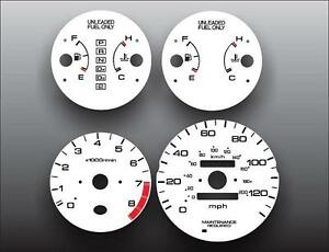 1996 2000 Honda Civic Ex Lx Dash Instrument Cluster White Face Gauges