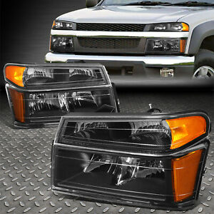 For 2004 2012 Colorado canyon Black Housing Amber Corner Headlight bumper Lamps