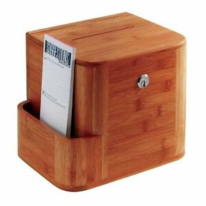 Safco Products Suggestion Box Bamboo Cherry New