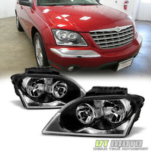 2004 2006 Chrysler Pacifica Headlights Headlamps Headlamps 04 06 Pair Left Right