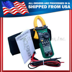 New Ms2108 Digital Clamp Meter True rms Ac dc Current 6600 Compared W Fluke