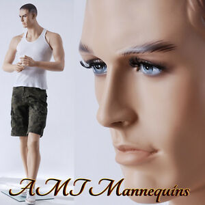 Male Full Body Mannequins Realistic Looking Muscular Life Size Mannequin jack