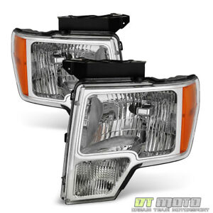 2009 2014 Ford F150 F 150 Replacement Headlights Headlamps 09 14 Pair Left right
