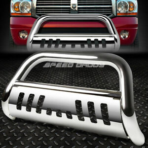For 02 09 Dodge Ram 1500 2500 3500 Truck Chrome Bull Bar Push Bumper Grill Guard