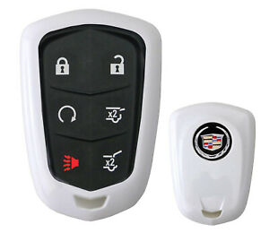 Exact Fit Glossy White Smart Key Fob Shell For 15 Cadillac Ats Cts Xts Escalade