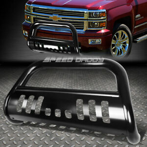 For 99 07 Chevy Silverado sierra 1500 Black 3 Bull Bar Push Bumper Grille Guard