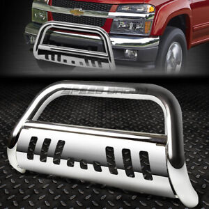 For 04 12 Chevy Colorado gmc Canyon Chrome 3 Bull Bar Push Bumper Grille Guard