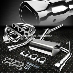 Dual Intercooled Tip Catback Header Exhaust For 07 16 Jeep Wrangler Jk 2dr 3 8