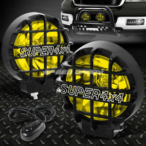 6 Round Black Housing Yellow Fog Light offroad Super 4x4 Guard Work Lamp switch