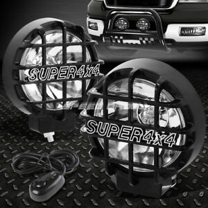 6 Round Black Housing Clear Fog Light Offroad Super 4x4 Guard Work Lamp Switch