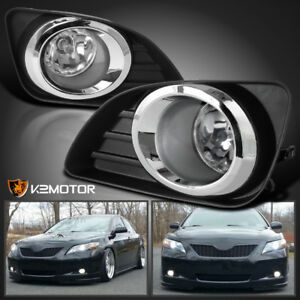 Jdm 10 11 For Camry Clear Bumper Lamps Driving Fog Lights Switch