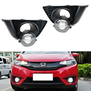 Complete Cree Xb Projector Fog Lights W bezel Covers Wiring For 15 up Honda Fit