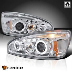 For 2004 2007 Chevy Malibu Led Halo Crystal Clear Lens Projector Headlights Pair