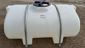 335 Gallon Poly Elliptical Leg Water Tank W Steel Mounting Bands Norwesco