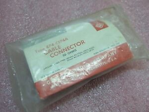 Gr General Radio 874 c174a 50 Ohms Cable Connector New Old Stock
