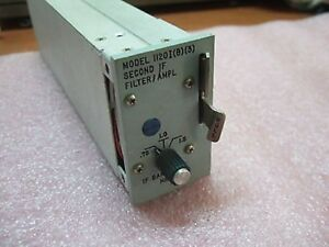 Microdyne Second If Filter Amplifier Model 1120 I b 3 0 75 1 0 1 5 Mhz