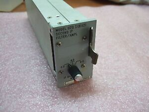 Microdyne Second If Filter Amplifier Model 1120 I b 3 2 0 4 0 6 0 Mhz
