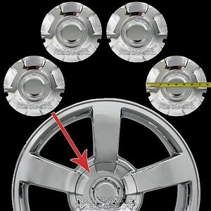 4 New 03 07 Silverado 20 Chrome Wheel Center Hub Caps Hubs 6 Lug Nut Rim Covers