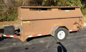 Pro tainer Industries Recycling 6 X 12 Lockable Covered Dump Trailer 7000 Lb Gv