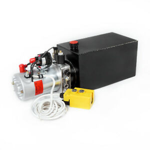 10 Quart Hydraulic Power Unit Pump 12v Single Acting Dump Trailer Control Lift
