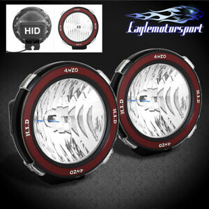 2xuniversal 7 Inch Built In Xenon Hid 4x4 Off Road Rally Driving Fog Light Lamp