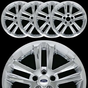 4 Chrome 2011 2017 Ford Explorer 18 Alloy Wheel Skins Full Rim Covers Hub Caps
