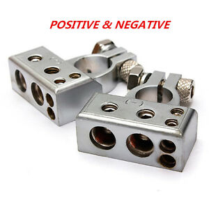 Car Battery Terminal Clamp Copper Alloy Connector With Cover Positive