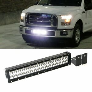 Complete Lower Bumper Grill Mount Led Light Bar System For 2015 Up Ford F 150