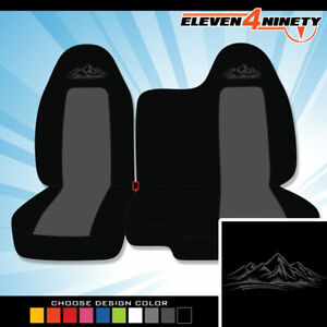 04 12 Chevy Colorado Black Charcoal Seat Covers Mountain Design Choose Ur Color