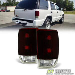 Black Tinted 1995 2005 Chevy Blazer Gmc Jimmy Tail Lights Brake Lamps Left Right