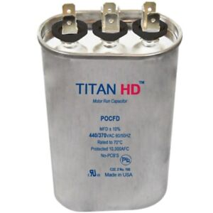 Mars Replacement Titan Hd Run Capacitor 80 7 5 Mfd 440 370v Oval 12298 By Titan
